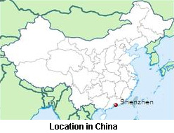 Location in China